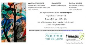 Invitation - vernissage - exposition Sylvie Brouat