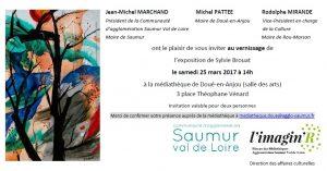 Invitation - vernissage - exposition Sylvie Brouat